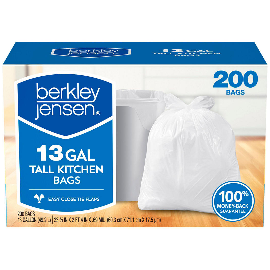 Berkley Jensen 13 Gal 0 69ml Kitchen Bags 200 Ct
