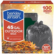 Berkley Jensen 45-Gal. 1mL Outdoor Lawn and Leaf Bags, 100 ct.