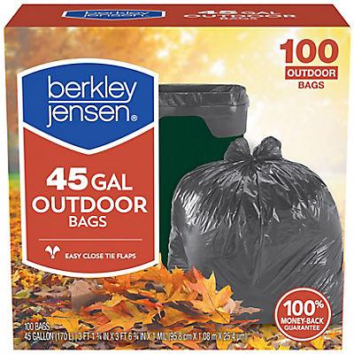 Berkley Jensen 45-Gal. 1mL Outdoor Lawn and Leaf Bags, 100 ct.