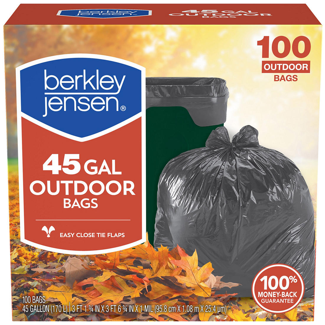 45 Gal 1ml Outdoor Lawn And Leaf Bags