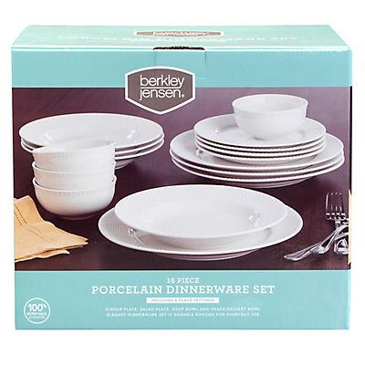 Berkley Jensen 16-Pc. Porcelain Dinnerware Set