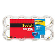 "Scotch Heavy-Duty Shipping Packaging Tape, 1 8/9"" x 1,573 1/5"", 8 pk. - Clear"