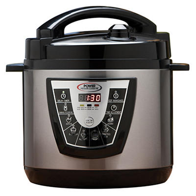 Power 8-Qt. Pressure Cooker XL with Bonus Items