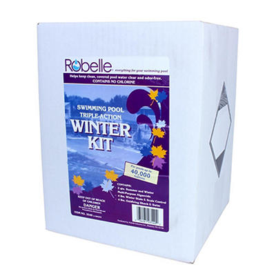 Robelle Swimming Pool Triple-Action Winter Kit for Pools Up to 40,000
