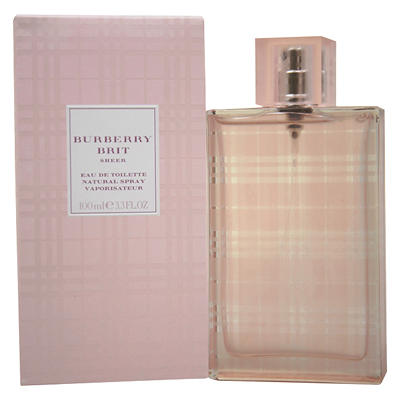 Burberry Brit Sheer Eau De Toilette Spray, 3.3 oz.