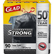 Glad 30-gal. Black Drawstring Plastic Trash Bags, 90 ct. - Black