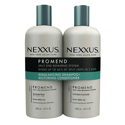 Nexxus Salon Hair Care Pro Mend Daily Shampoo and Daily Conditioner Twin Pack, 23 oz.