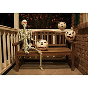 5' Poseable Skeleton with Glowing LED Eyes