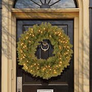 """National Tree Company 30"""" Pre-Lit Artificial Norwood Fir Wreath - Clear"""