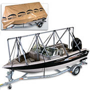 Navigloo Storage System for 14-19' Fishing Boats and Runabouts with 15' x 26' Tarpaulin