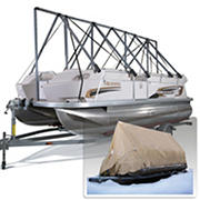 Navigloo Storage System for 19-23' Fishing Boats, Pontoon Boats and Runabouts with 19' x 32' Tarpaulin