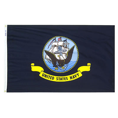 "Annin 72""L x 48""W Nyl-Glo US Navy Flag"