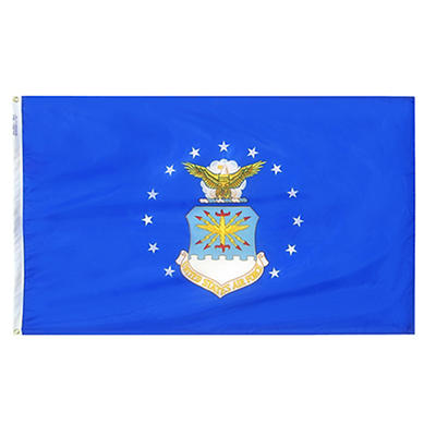 "Annin 72""L x 48""W Nyl-Glo US Air Force Flag"