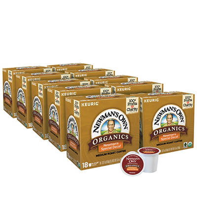 Newman's Own Organics Special Blend Decaf Medium Roast Coffee Keurig Single-Serve K-Cup Pods, 10 pk./18 ct.