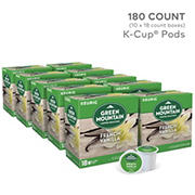 Green Mountain Coffee Roasters French Vanilla Light Roast Coffee Keurig Single-Serve K-Cup Pods, 10 pk./18 ct.