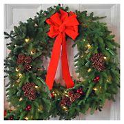 """InBloom Christmas Classic Pre-Lit 30"""" Wreath"""