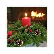 InBloom Christmas Classic Small Round Centerpiece