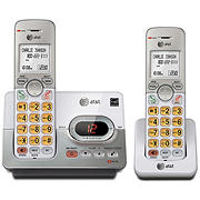 AT&T DECT 6.0 2-Handset Cordless Digital Answering System