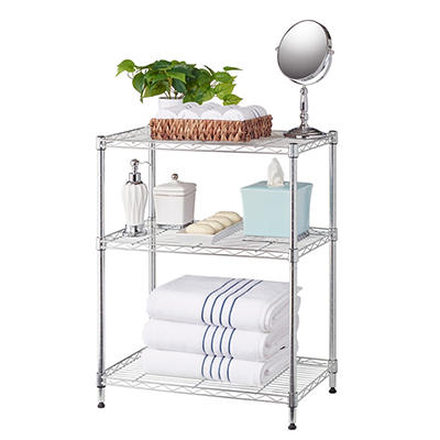 Home Storage Space 3-Tier Rack, 2 pk. - Chrome