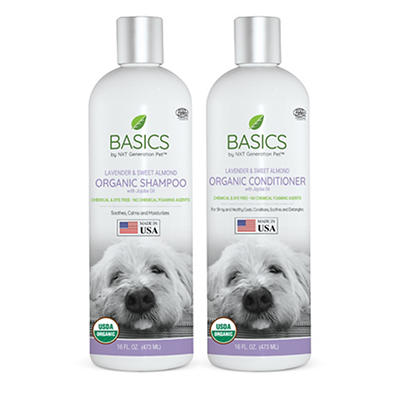 Basics by NXT Generation Pet Lavender Shampoo and Conditioner for Dogs