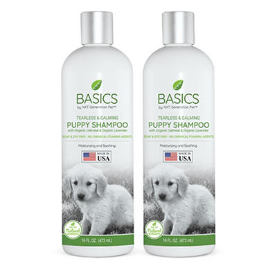 Basics by NXT Generation Pet Tearless Calming Puppy Shampoo, 2 pk./16