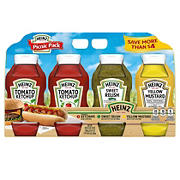Heinz Ketchup, Mustard and Relish Picnic Pack, 4 pk./118 oz.