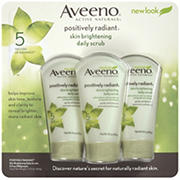 Aveeno Positively Radiant Skin Brightening Exfoliating Daily Scrub, 3 pk./5 oz.
