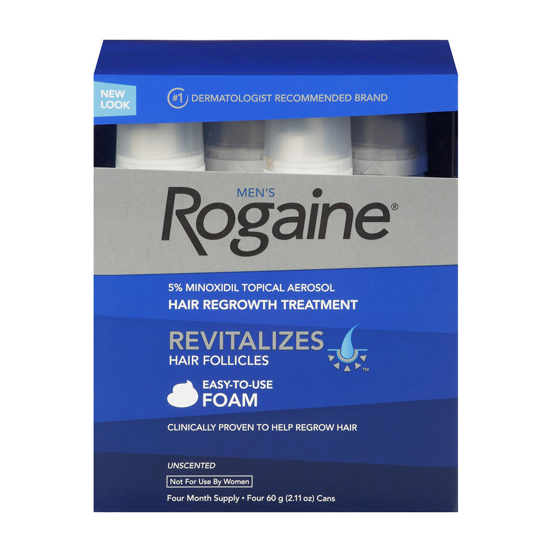image regarding Printable Rogaine Coupon referred to as Mens Rogaine Hair Decline and Hair Regrowth Process Minoxidil Topical Tactic, 4 pk./11 oz.