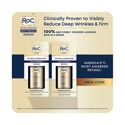RoC Retinol Correxion Anti-Aging Deep Wrinkle Serum, 2 pk./1 oz.