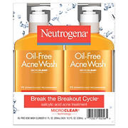 Neutrogena Oil-Free Acne Face Wash with Salicylic Acid, 2 pk./9.1 oz.