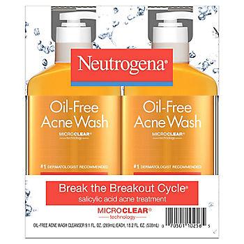 Neutrogena Oil Free Acne Face Wash With Salicylic Acid 2 Pk 9 1