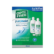 Opti-Free PureMoist Contact Lens Care Solution, 2 pk./14 fl. oz. with 2 Lens Cases