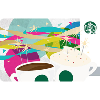 $25 Starbucks Gift Card - Happy Birthday