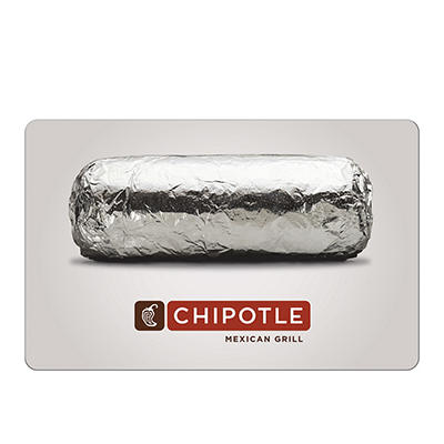 $10 Chipotle Mexican Grill Gift Card, 3 pk.