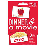 $50 Dinner and a Movie Gift Card Pack