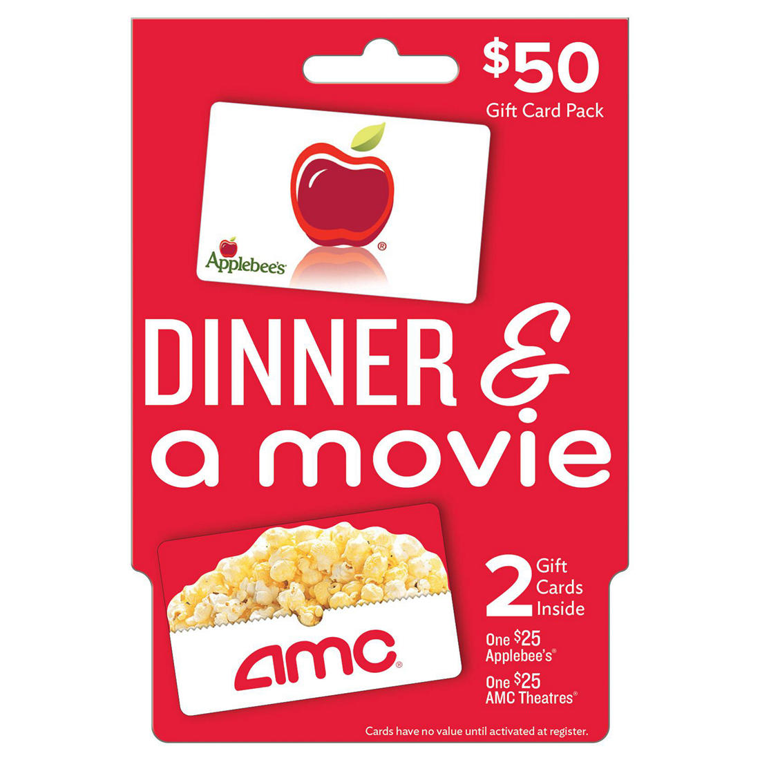 graphic regarding Deal a Meal Cards Printable identify $50 Evening meal and a Video clip Present Card Pack