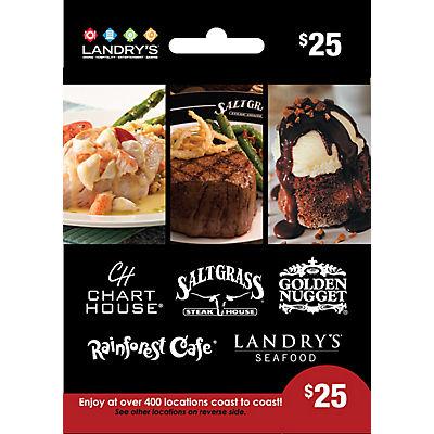$25 Landry's Gift Card