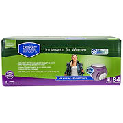 Berkley Jensen Incontinence Underwear for Women with Maximum Absorbency, Size Large, 84 ct.