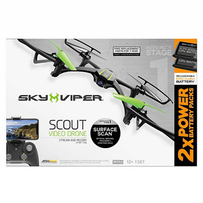 Sky Viper Scout 720p Camera Video Drone Bundle