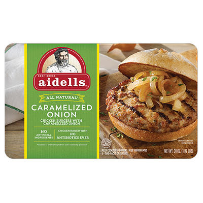 Aidells Caramelized Onion Burgers, 10 ct.