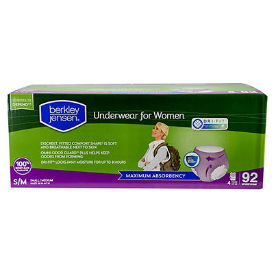 Berkley Jensen Incontinence Underwear for Women with Maximum Absorbenc