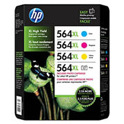 HP 564XL Color/Photo Ink Cartridges, 4 pk.