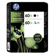 HP 60XL Black/Color Combo Ink Cartridges, 2 pk.