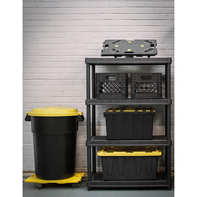 Organize-It 4-Tier 600-lb. Resin Shelving Unit - Black
