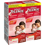 Infants' Tylenol Cherry Flavored Oral Suspension, Fever Reducer and Pain Reliever, 2 pk./2 fl. oz.