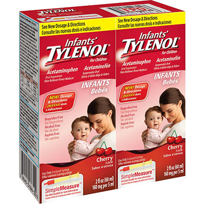 Infants' Tylenol Cherry Flavored Oral Suspension, Fever Reducer and Pa