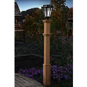 New England Arbors Burton Lamp Post - Cedar