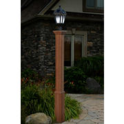 New England Arbors Trinity Lamp Post - Cedar