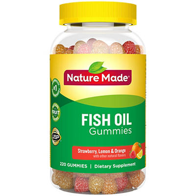 Nature Made Orange, Lemon and Strawberry Banana Flavor Fish Oil Adult