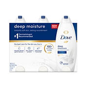 Dove Deep Moisture Body Wash, 3 pk./24 oz.